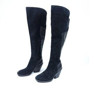 Naya Black Leather Ansible Over-The-Knee Boots